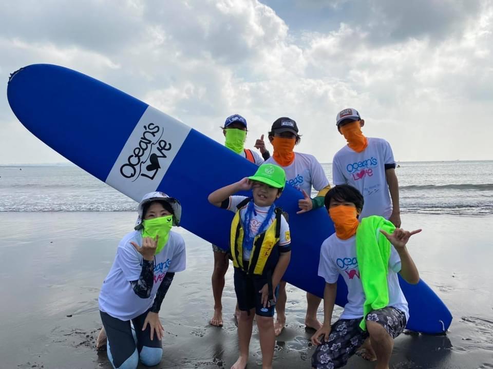 2021年10月9日(土) Ocean's Love主催のサーフィンスクールにボランティアとして参加させて頂きました。